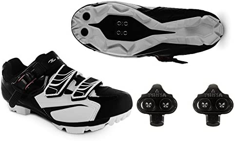 Zol White MTB Indoor Cycling Shoes Cleats