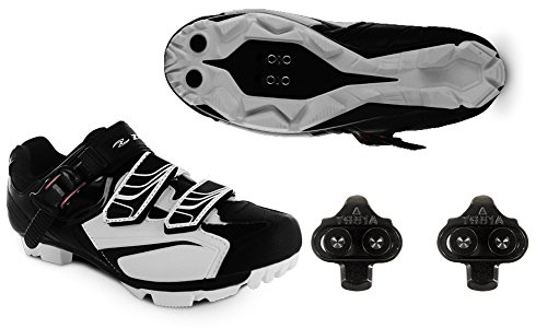 Zol White MTB Indoor Cycling Shoes + Cleats 39