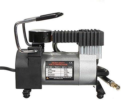 NEHARO Luftpumpe Kompressor Heavy Duty Tragbarer 12V 140PSI Auto-Gummireifen-Pumpe-Luftverdichter (Farbe : Silber, Größe : Einheitsgröße)