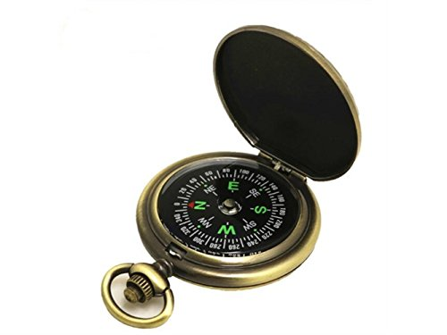 Yuchoi Solid Compass Retro Pocket watch Outdoor Navigation Tools for Hiking Multifunction Explore Compass (Gold) by Yuchoi