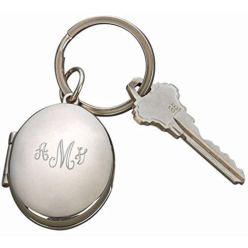 Oval Shaped Locket Key Chain- Holds 2 Photos in the size 1 x 1.25 Oval Shaped Key