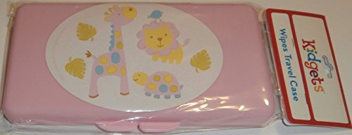 Pink Turtle, Giraffe, and Lion Baby Wipes Case
