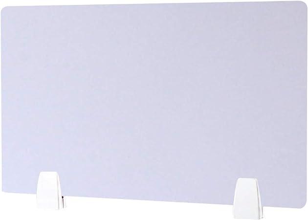 YOMERA Divisorio da scrivania divisorio fonoassorbente-Privacy Lavagna Trasparente 40 * 50 cm 1PC Trasparente scrivania o tavolino Piccolo. Protezione Anti-sputi e divisorio per Ufficio