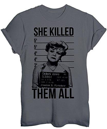 Ucciso Fletcher Scuro Grigio Image Divertenti Foto Tutti Ha shirt Segnaletica Maglietta T Jessica HqXCgx