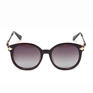 RAQ Gafas de Sol polarizadas Gafas de Mujer Redondas Gafas ...