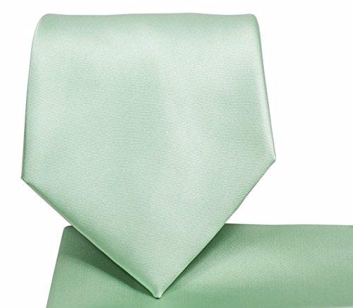 (Men's Solid Color Microfiber NeckTie (Mint Green) #100-V)