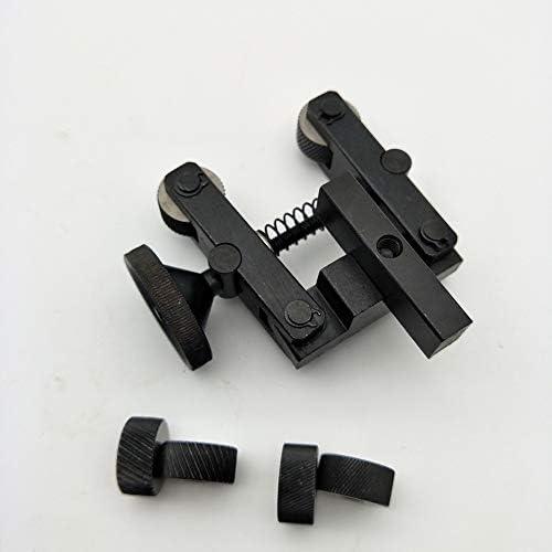 GENERICS LSB-Werkzeuge, Durable Rändelwerkzeug Halter Linear Knurl Werkzeuge Dreh Adjustable Schaft + 2 Räder for Mini-Drehmaschine Spindellager (Größe : 1.2 mm)