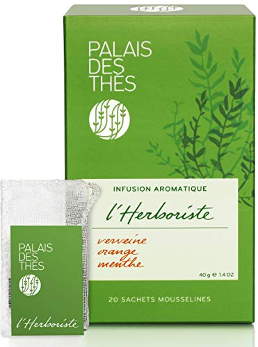 Palais des Thés Herborist No.108 Verbena, Orange & Mint herbal Tea, 20 Tea Bags (40g) ()