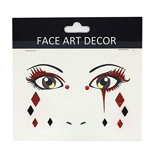 wintefei Face body Decor Glitter Temporary Tattoo Stickers Halloween Party Stage Makeup Prop FS07