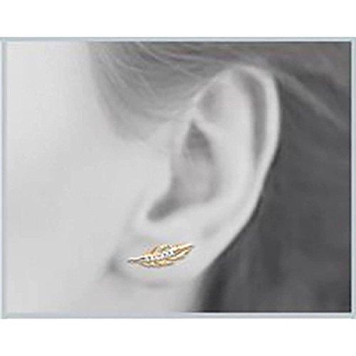 Boucles d'oreilles Plaqué Or Strass & Nature Bijoux Paris Jaune