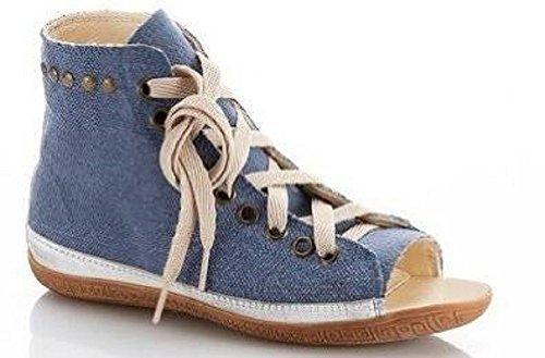 Mujer tela cuero azul azul Zapatos Rick Cordones de y de Schnürschuh xqC0Zp8