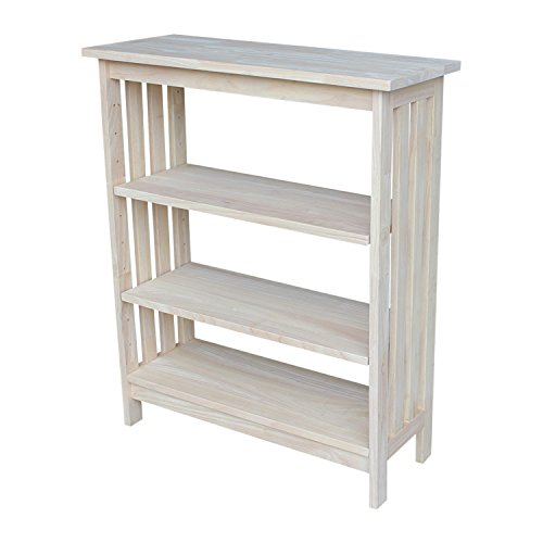International Concepts SH-3630M 3 Tier Mission Shelf Unit, Unfinished