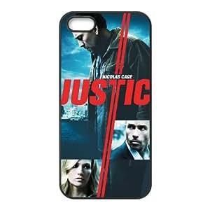 Buscando caja del teléfono celular de alta resolución Justicia cartel iPhone 5 5S funda Negro caja del teléfono celular Funda Cubierta EEECBCAAL79514