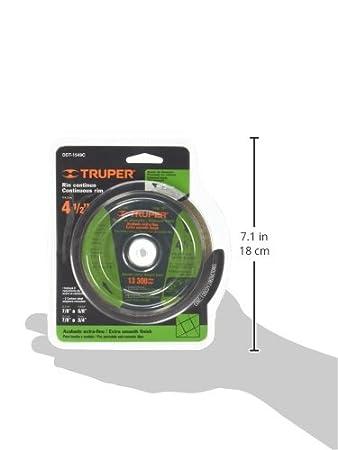 TRUPER DDT-1549C Continuous Rim Diamond Saw Blades, Diameter 4 1/2