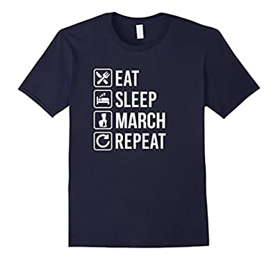 Eat Sleep Marching Band Repeat Funny T-Shirt