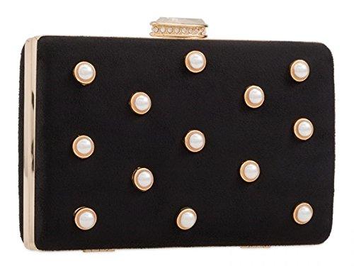 Faux Women's Case Hard Clutch Clutch Leather Royal Chic Handbag Suede LeahWard Cute tFTdwBqq6