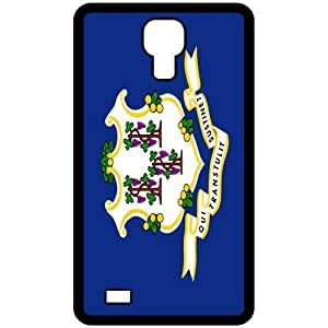 Connecticut CT State Flag Black Samsung Galaxy S4 i9500 - Cell Phone Case - Cover