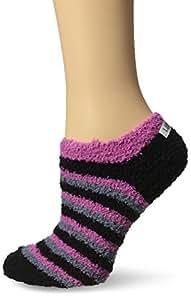 Life is good Women's Snuggle Low Cut Stripes Socks, Night Black, One Size