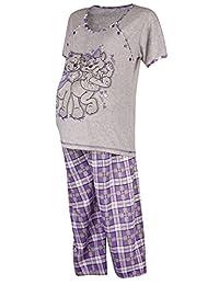 Happy Mama. Womens Maternity Top Nursing Breastfeeding Pyjamas Nightwear. 191p