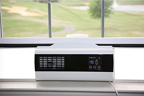 Amazon Com New For 2020 Ecobreeze 2 1 Double Hung Window Automates Fresh Air Cooling Works With Ac Removes Pollen And Dust Kitchen Dining