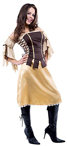 UHC Preteen Girl's Tavern Wench Pirate Outfit Fancy Dress Halloween Costume