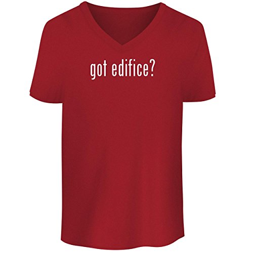 BH Cool Designs got Edifice? - Men's V Neck Graphic Tee, Red, Small by BH Cool Designs