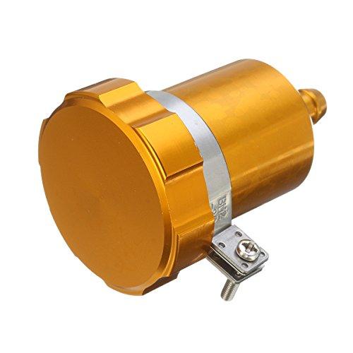JenNiFer 15ml Motorcycle Rear Brake Fluid Reservoir Tank Oil Cup Clutch Master Cylinder CNC - Gold: