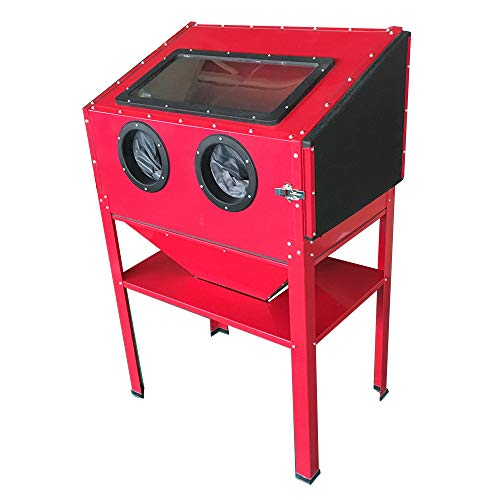 MOTOOS 60 Gallon Bench Top Air Sandblaster Media Pressure Abrasive Blasting Red