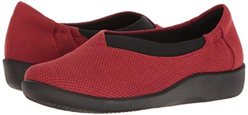 Closed Loafers Clarks Toe Microfibra Rossa Sillian Jetay Womens S66BnqpWH