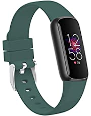 TopPerfekt Bandjes compatibel met Fitbit Luxe, vrouwen mannen grote kleine formaat zachte siliconen vervanging sport polsband dunne band accessoires voor Fitbit Luxe Fitness en Wellness Tracker in 2021