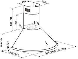 Klarstein Lumio Retro campana extractora - champán: Amazon.es: Hogar