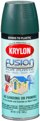 (Krylon K02424001 Fusion for Plastic Spray Paint, Satin Hunter Green)