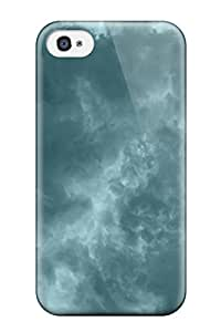 Best Slim Fit Tpu Protector Shock Absorbent Bumper Retina 5k Clouds Case For Iphone 4/4s