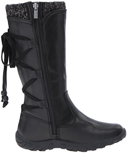 Nine West Girls' Denise Pull-On Boot, Black, 3 M US Little Kid