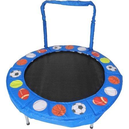Trampoline 4' Bouncer for Kids by Jumpking (Blue Sport Balls)