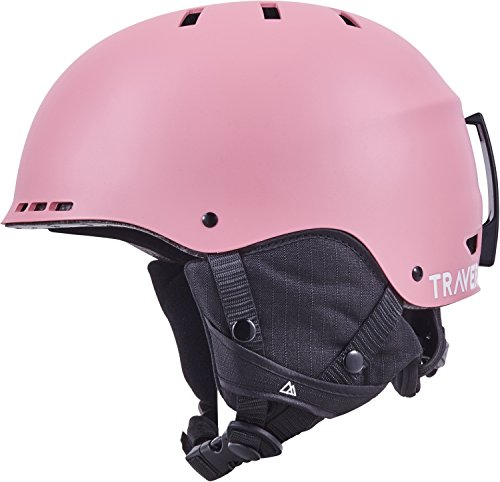 Pink Snowboard Helmet - Traverse Retrospec H2 2-in-1 Convertible Helmet with 10 Vents