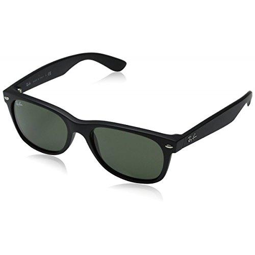 Ray-Ban NEW WAYFARER - BLACK RUBBER Frame CRYSTAL GREEN Lenses 52mm Non-Polarized