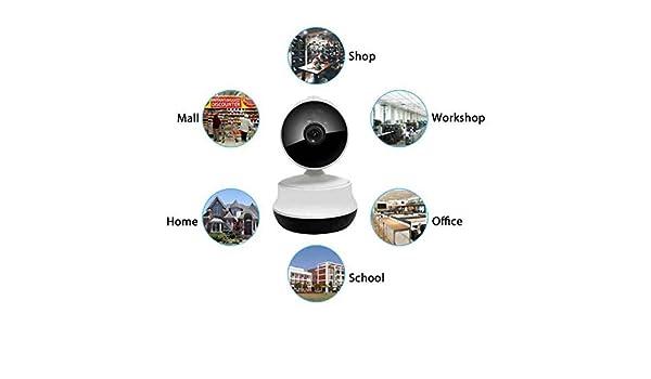 Cámara de Vigilancia Full HD,Instalar Fácil,IR Control Remoto,cámara Inteligente,visión de ángulo Grande,Cámara IP Wireless,Soporte MAX 64 GB de Almacenamiento Portátil -Milool: Amazon.es: Electrónica