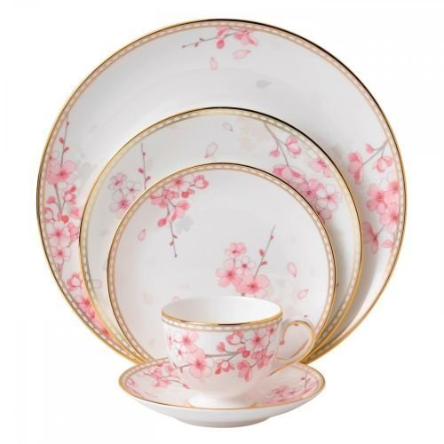 Wedgwood Spring Blossom 5 Piece Place Setting, White by Wedgwood
