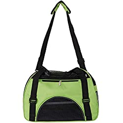 HLCWTOY Hollow-Out Portable Breathable Waterproof Pet Handbag Green L