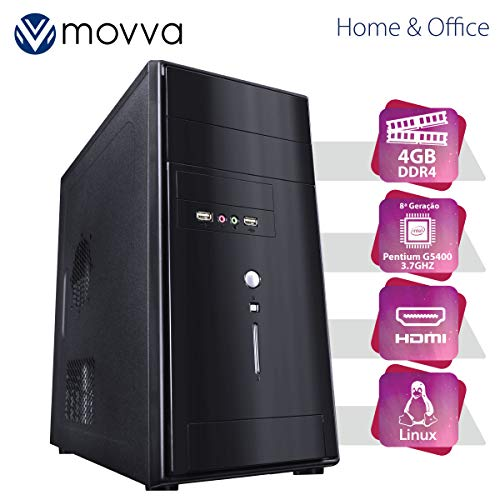 COMPUTADOR IRON PENTIUM G5400 3.7GHZ 8ª GER. MEM. 4GB SSD 120GB + HD 160 GB - LINUX FONTE 200W - MVIRPG5400H310S1201604 - MOVVA