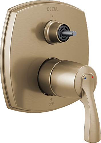 Delta Faucet T24876-CZLHP 14 Series Integrated Three Function Less Handle Shower Trim with Diverter, Champagne Bronze (16 Series Trim)
