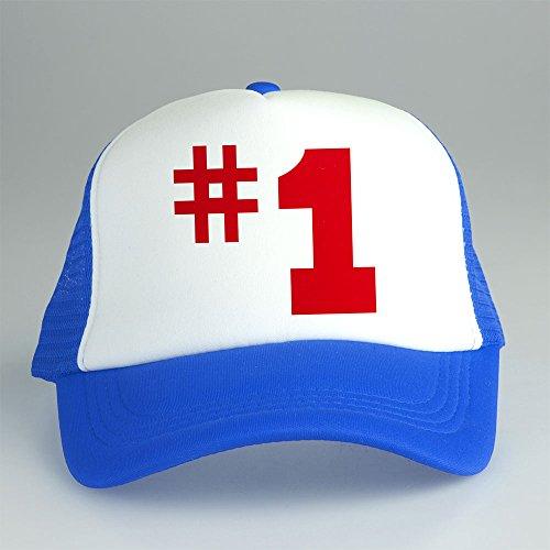 [Spongebob The Number 1 Trucker Cap Hat White and Blue CPT-127 C-2 G-4] (Trucker Girl Costume)