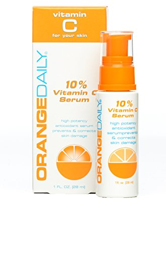 OrangeDaily High Potency 10% Vitamin C Serum with Anti Aging Properties for Youthful, Firm, Smooth Skin, 1 Ounce