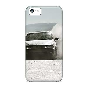 Pretty IzPcGZL1736ZSLxs Iphone 5c Case Cover/ Black Bmw In Desert Series High Quality Case