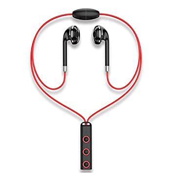 HHLUW Auriculares Inalámbricos Bluetooth Sweatproof Fitness Sport Auricular Bluetooth Wireless Headset con Micrófono, Rojo: Amazon.es: Electrónica