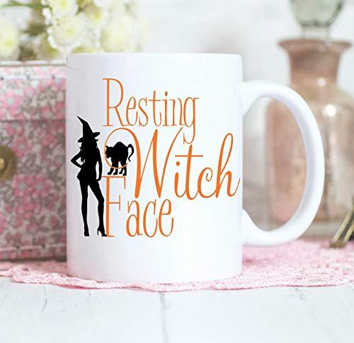 Resting Witch Face, Resting Bitch face, Funny Mug, Adult humour, Halloween Mug, Halloween gift, Adult Mug, Mug -