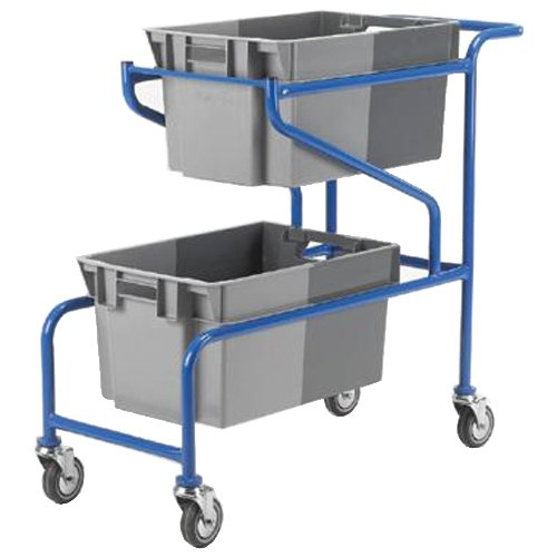 Action Handling PC070 Container for Order Picking Trolley, 50 L Capacity, 300 mm H x 400 mm W x 600 mm Length (Pack of 2) Action Handling Equipment Ltd
