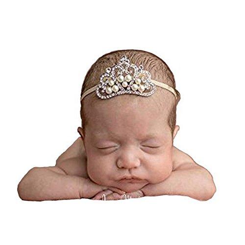 Price comparison product image Baby Crown,SBParts® Large Crystal Crown Tiara Slider Baby Headband