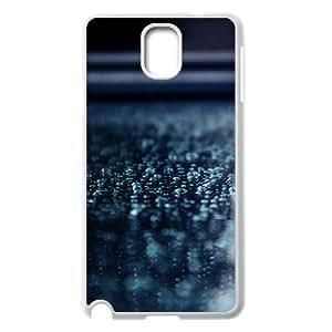 Samsung Galaxy Note 3 Case,Macro Water Drops Blue Surface Hard Shell Back Case for White Samsung Galaxy Note 3 Okaycosama340522